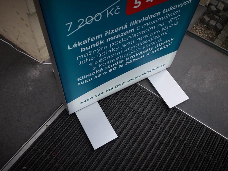 Stojan oboustranný 60 mm světelný 50 x 150 cm
