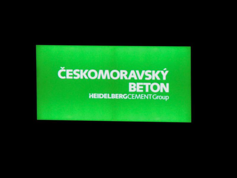 Venkovní světelný panel – Označení společnosti Český Beton
